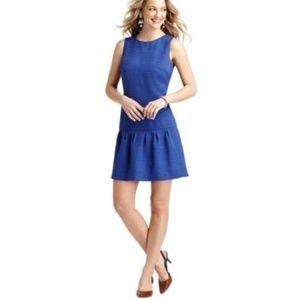 Ann Taylor Loft Blue Rayon Drop Waist Dress 4